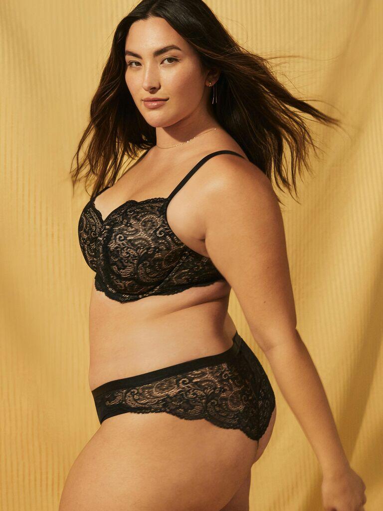 black lace lingerie set