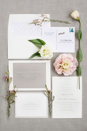 Simple Gray and White Invitation Suite