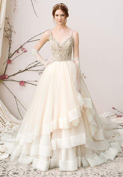 07a36be0b77 Justin Alexander Signature Style 9858 Organza Ball Gown With Allover ...