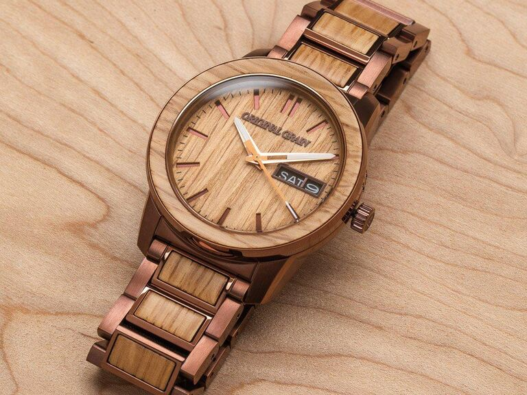 Unique wood sixth anniversary watch gift