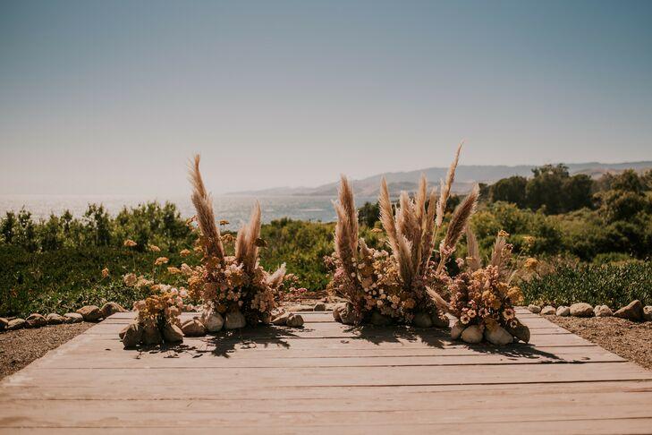 Pampas Grass Ceremony Altar Display at Dos Pueblos Orchid Farm in Goleta, California