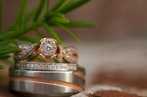 Silver and Gold Wedding Rings