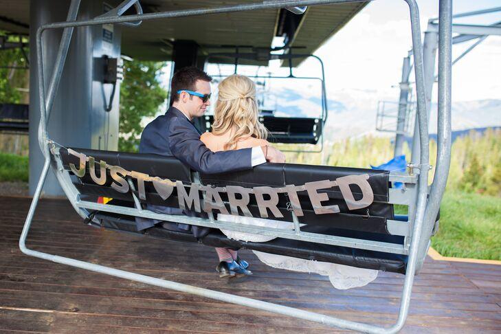 Ashley and Brett Ski Lift Exit
