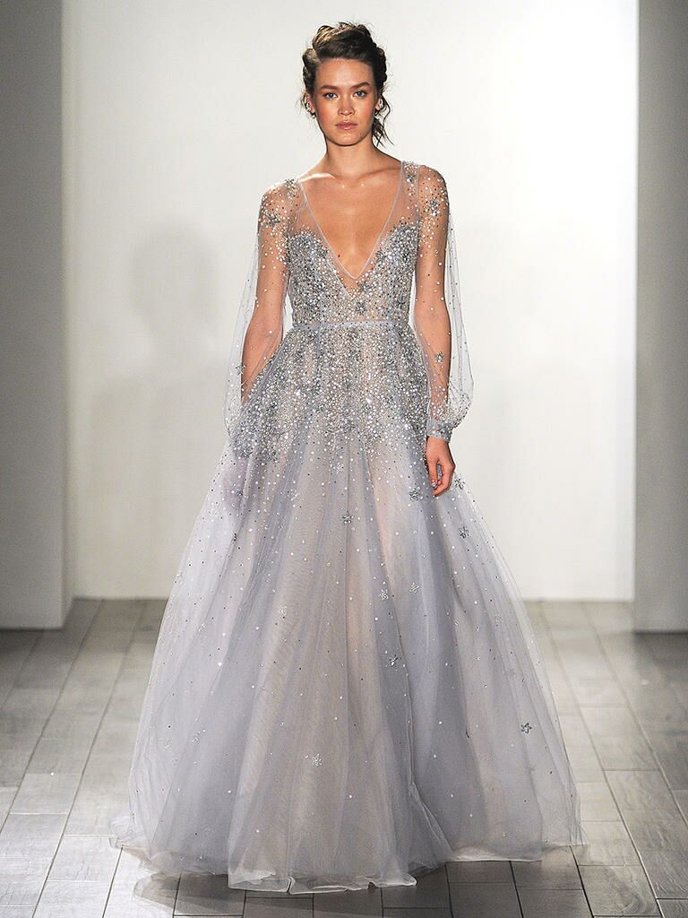 Blue wedding gown by Hayley Paige