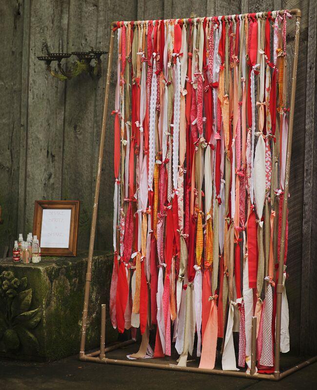 DIY ribbon wedding decor: Justin Wright Photography / TheKnot.com