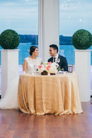 Modern Topiary Head Table Arrangements
