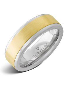 Serinium® Collection Cancun — Serinium® and 14k Yellow Gold Ring-RMSA002583 Serinium® Wedding Ring