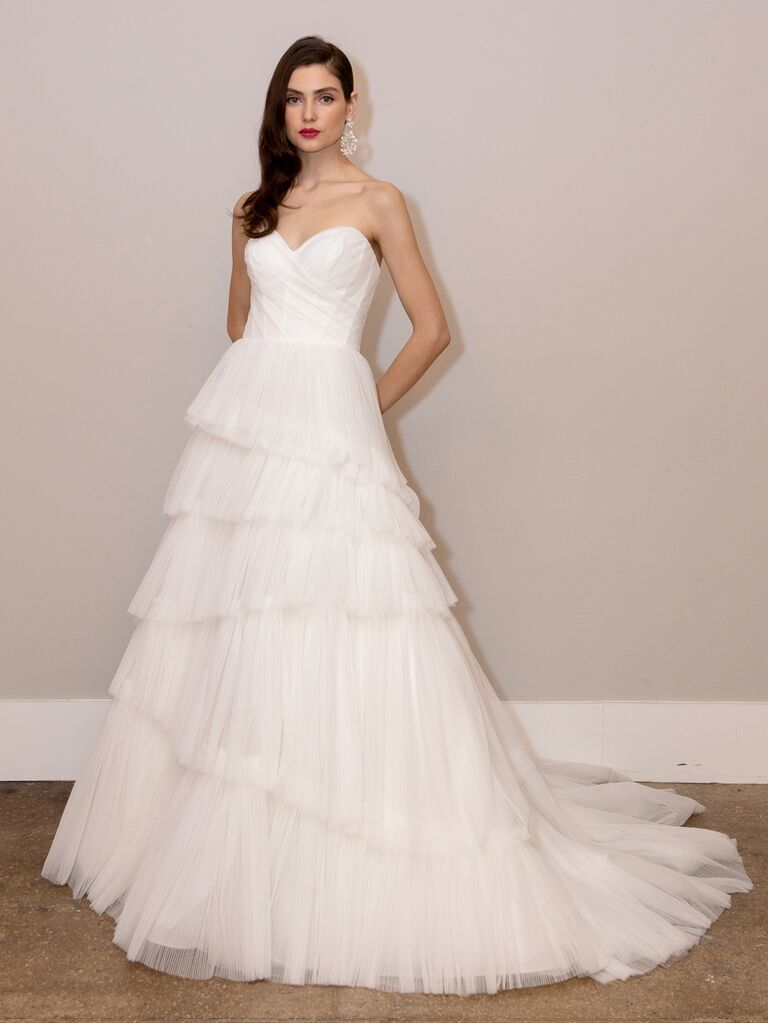 BHLDN Spring 2020 Bridal Collection strapless sweetheart wedding dress with a tiered skirt