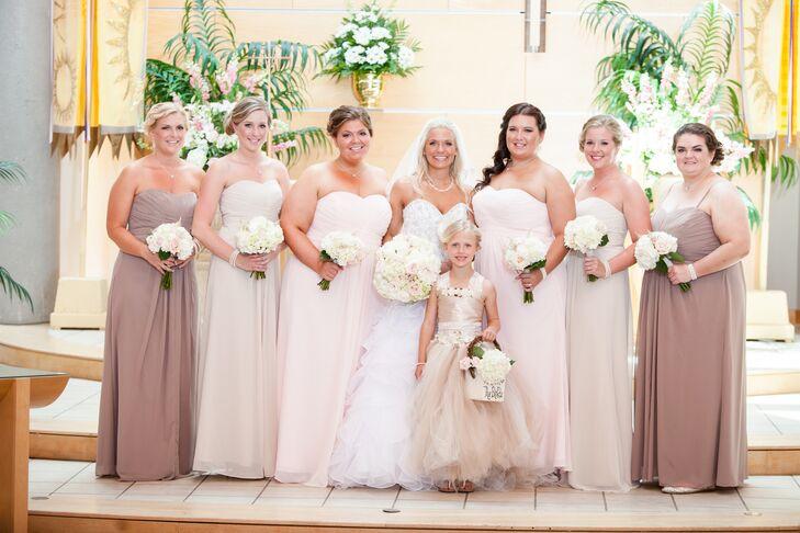 David's Bridal Champagne Bridesmaid Dresses