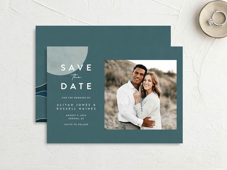winter destination wedding save the date