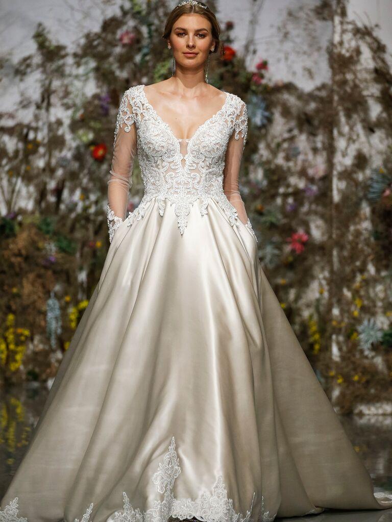 Morilee by Madeline Gardner Spring 2020 long-sleeved A-line wedding dress