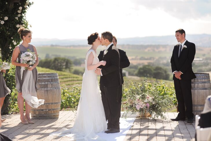 """Maintaining an element of formality and tradition was important for the couple when it came to their ceremony. The pair chose Celine Dion and Andrea Bocelli's """"The Prayer"""" and Pachelbel's Canon in D for the processional, and went for something more upbeat for the recessional: Michael Buble's """"Everything."""""""