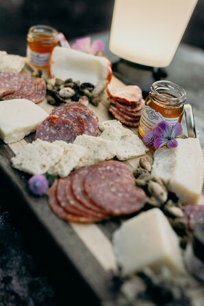 Rustic Meat and Cheese Plate