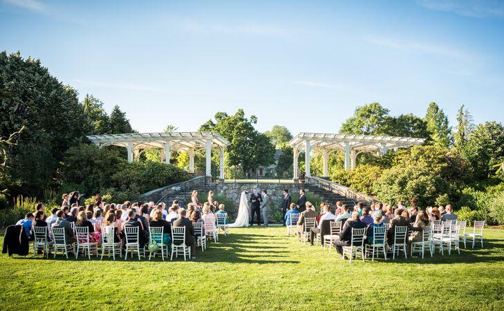 Secret Garden at Tower Hill Botanic Garden Wedding Ceremony