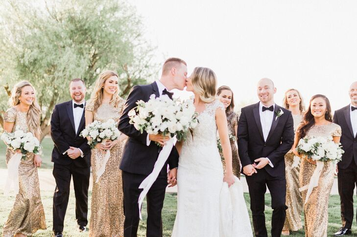 Alyssa Ingerman and Ryan Grove's spring wedding at the Anthem Country Club in Henderson, Nevada, was the picture of modern elegance and class.<br><br>