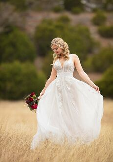 Essense of Australia D2607 A-Line Wedding Dress
