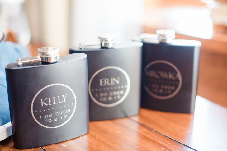 Monogramed Bridesmaid Flasks