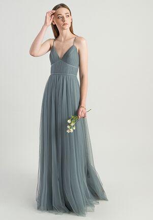 Jenny Yoo Collection (Maids) Ali V-Neck Bridesmaid Dress