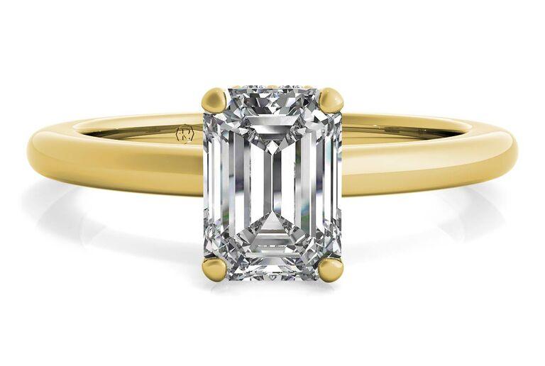Ritani solitaire diamond gallery engagement ring
