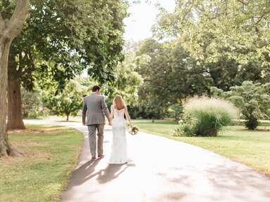 Delware married couple walking away