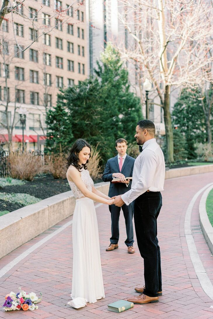 """Jessica and Navil were just two weeks away from their wedding when they made the difficult call to postpone it, as a result of the pandemic. """"All the"""