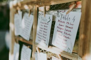 DIY Handwritten Table Assignments