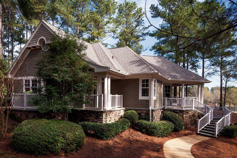 gray cabin exterior