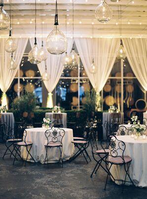 Garden-Inspired Indoor Reception With Chandeliers