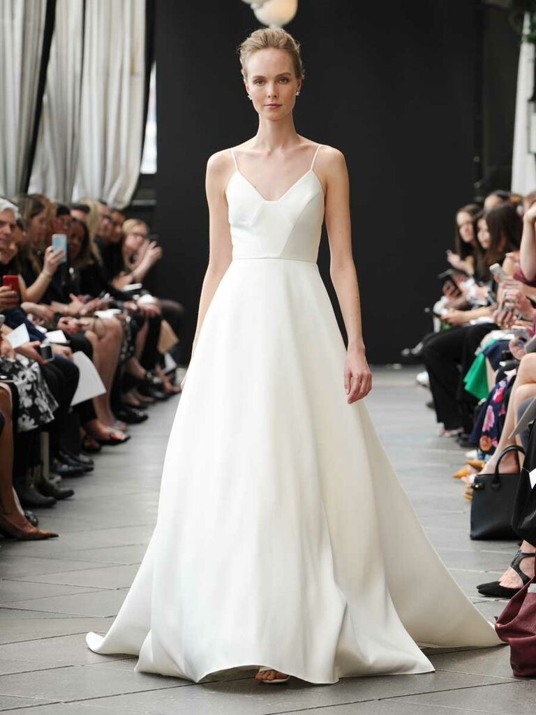 2a47243afa4 Nouvelle Amsale Spring 2019 wedding dress with ball gown and spaghetti  straps