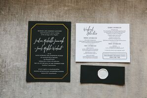 Gold and Black Invitations