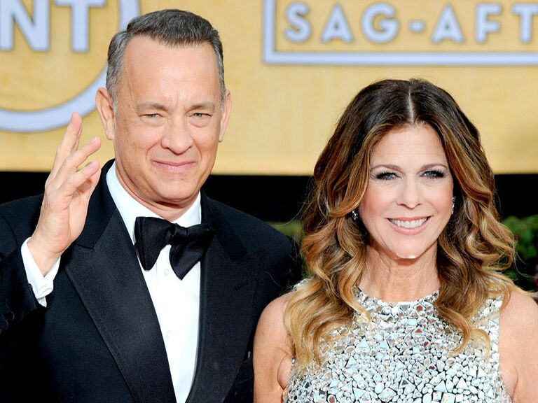 Tom Hanks and Rita Wilson famous celebrity couples