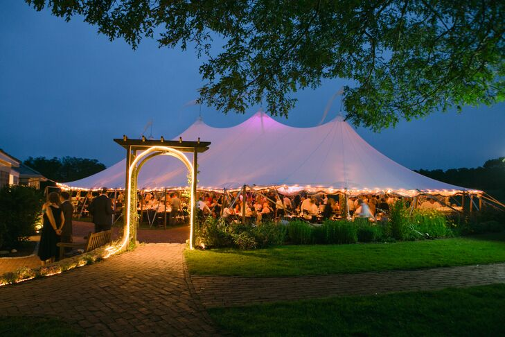 Tented Reception at Farm Neck Golf Club in Oak Bluffs, Massachusetts
