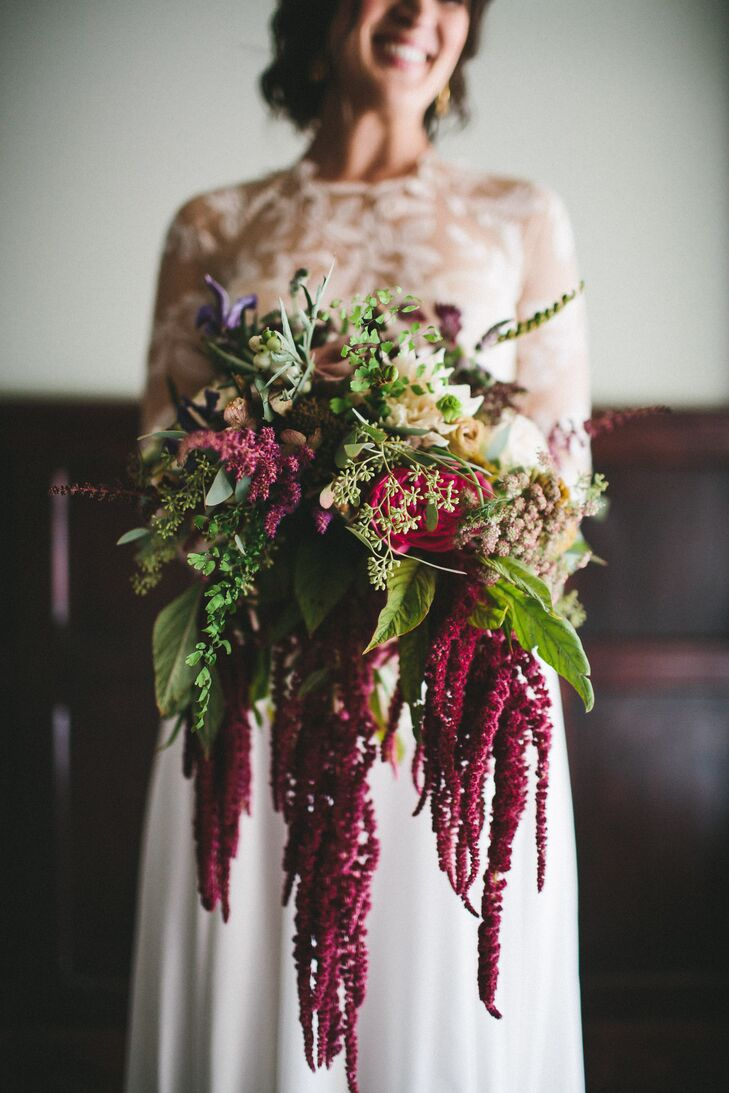 Cascading Red Amaranthus Bouquet