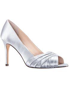 Nina Bridal Rhiyana_New Silver Satin Black, Blue, Green, Ivory, Pink, Purple Shoe