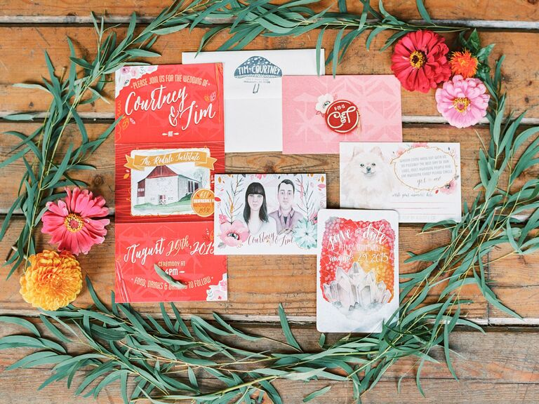 Living Coral Invitation Suite