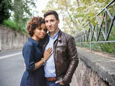 Newlywed couple in Italy
