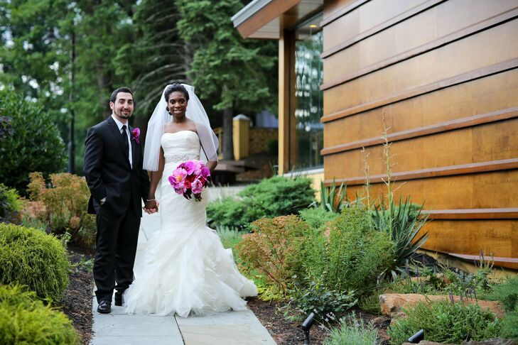 The Bride Shelly-Ann Bryan, 35, a technical designer at Millennial RTW Brands-Macy's Merchandising The Groom Giorgi Kobaladze, 36, a sales manager for