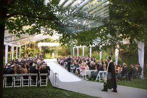 Glam Tented Backyard Wedding Ceremony
