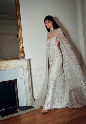 CUCCULELLI SHAHEEN White Nefertiti Dress and Cape Mermaid Wedding Dress