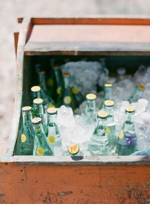 Rustic Cooler with Self-Serve Bottles of Topo Chico