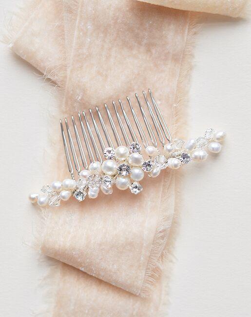 Dareth Colburn Abbey Freshwater Pearl Comb (TC-2331) Silver Pins, Combs + Clip