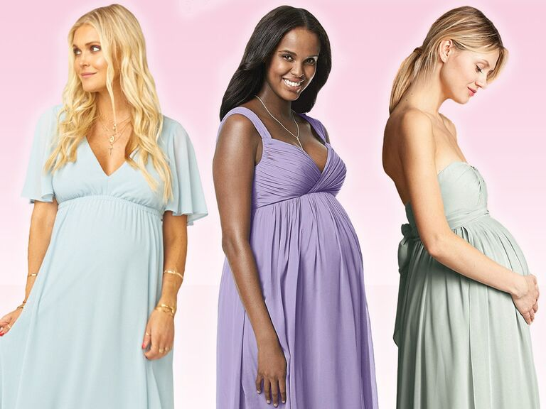 583b77170418d Maternity Bridesmaid Dresses for Your Pregnant Bridesmaids