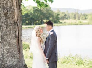 Lisa Myers (26 and an administrative assistant) and CJ Huyett (26 and a service sales representative) decided on a rustic-chic theme for their wedding