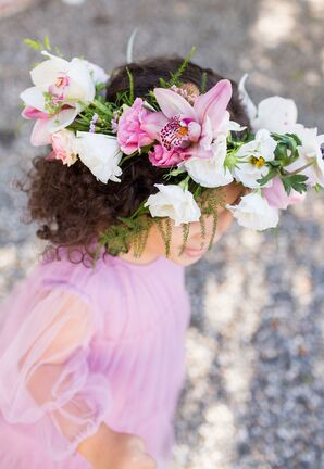 Orchid and Lisianthus Flower Crown