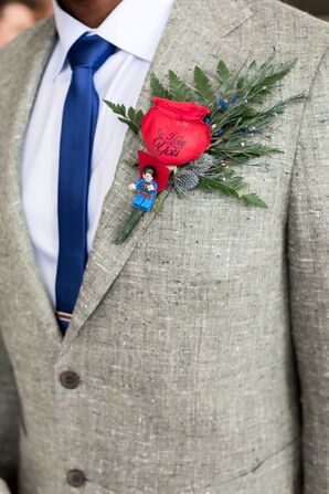 Superman Lego Boutonniere Accent