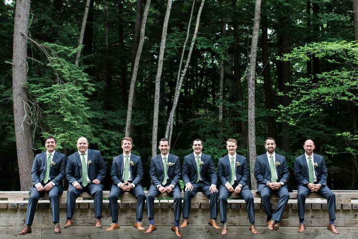 Navy Ted Baker and Pronto Uomo Suits