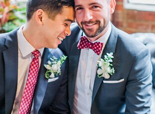 "Andy Vu (29 and a software developer) and Daniel Moose (30 and a lawyer) waited 11 years to legally tie the knot. ""We wanted an elegant wedding with o"