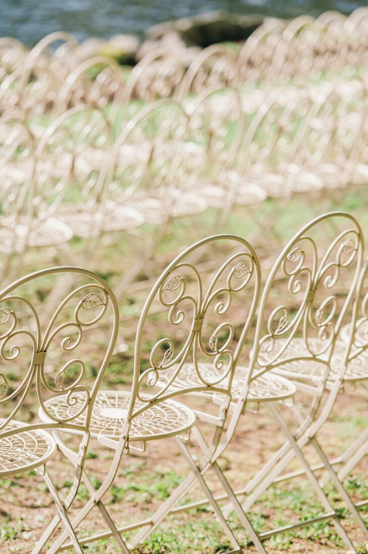 Vintage Wrought-Iron Ceremony Chairs
