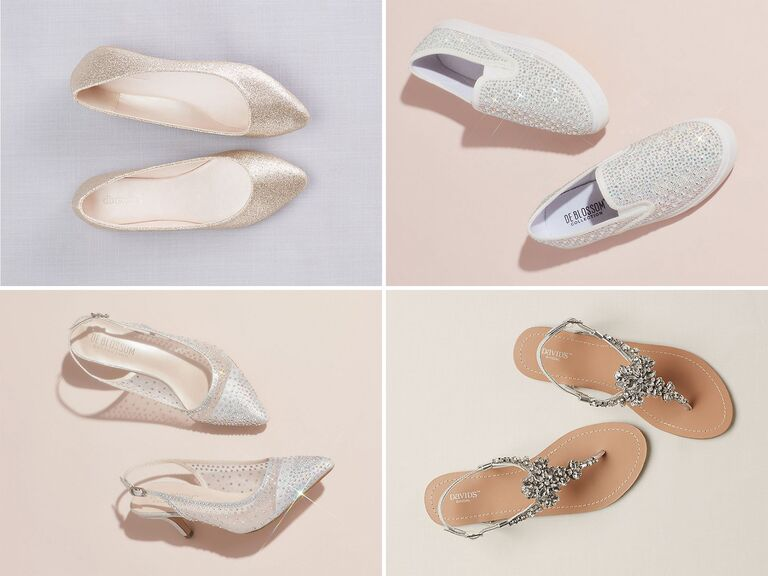 Silver Flats For Wedding.33 Sparkly Wedding Shoes To Glitter Down The Aisle In