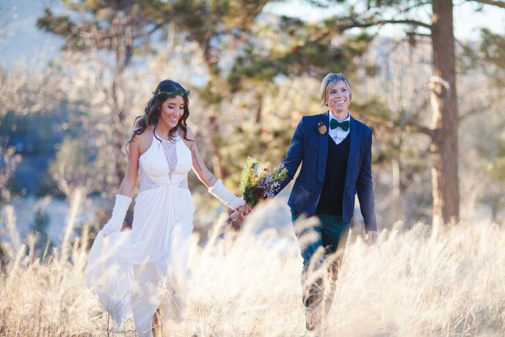 The surrounding woodlands of Big Bear, California, served as inspiration for this intimate, natural wedding between Debora Barreto (32 and a photograp